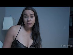 NAUGHTY STEPMOM: his dad left the teen with his...