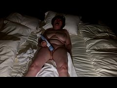 Mature GILF cums so hard in the dark