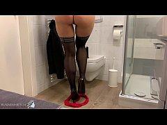 secret secretary dildoride office toilet, Busin...