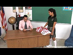 cute teen Lana spanked by her prof