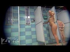 blonde shower peeping