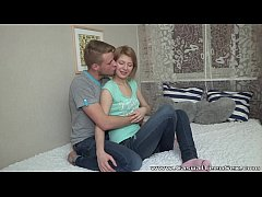 Casual Teen Sex - Teeny Katya surprises with gr...