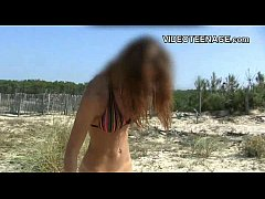 18 years old teen nudist at beach