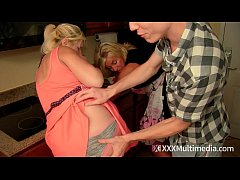 Step mom and sister fucked by young stepson MIL...