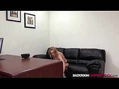 Babe Brittany fucking big cock at creampie casting