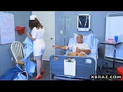 Big ass nurse beauty Lily Love rides patients b...
