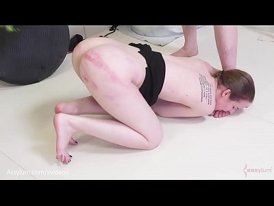 Beautiful blonde cave woman gets an ass fucking, ass to mouth, and a beating with a tree branch (Jessica Kay)