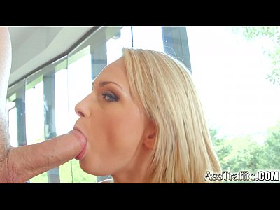 Ass Traffic anal sex orgasm and cum swallow for blonde