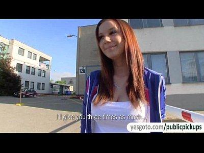 Veronika at Public Pickup Porn scene