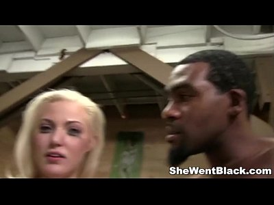 Cute Blonde Jenna Ivory Fucked by Black Cocks