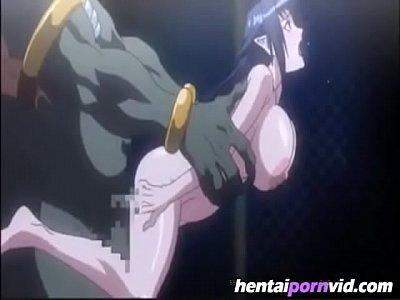 Big cock monster filling up big boob girl