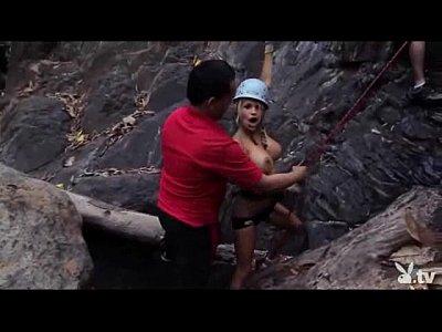 Naked Girls Rock Climbing!