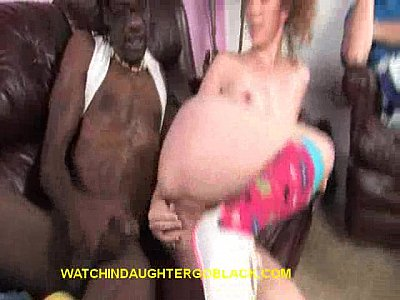 Dad Sees Black Cock in Daughter's Pussy