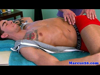 Ripped masseur doggystyled after sucking cock