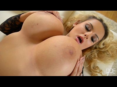 Blonde big tits British bombshell seduction