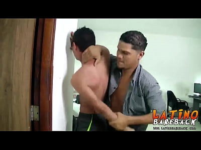 Brunette and tattooed Chuy fucking this skinny latin twink
