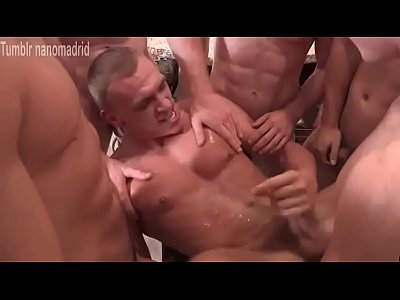 Hot Gangbang With Cumeating Pig