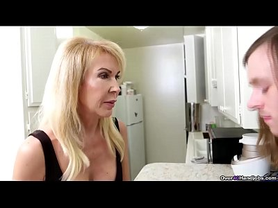 over40-Sexy milf jerks off a huge dick