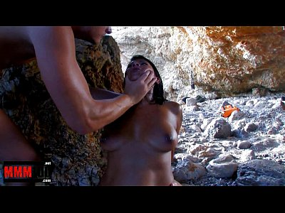 Perfect latin Pornstar Yoha Galvez fucked hard at the beach by two guys
