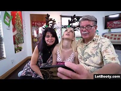Big ass blonde Anastasia Knight fucking with Santa Claus
