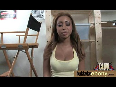 Ebony gets fucked in all holes by a group of white dudes 5