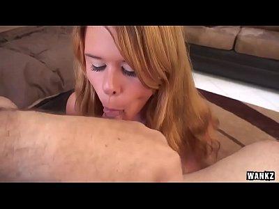 WANKZ- Teen POV Blowjob Handjob and Huge Cumshot