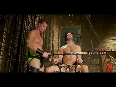 Gay hunk fucked in bondage extreme sex