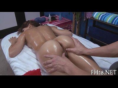 Hot massage movie scene