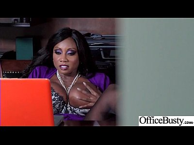 Office Big Tits Girl (Diamond Jackson) Realy Love Hard Baning clip-17