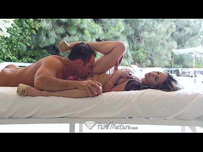PureMature - Hot MILF Rachel Roxxx oils up by the pool