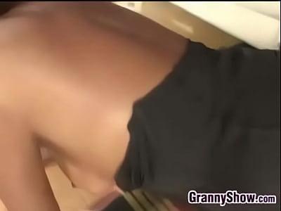 Horny Black Grandma Getting Pounded