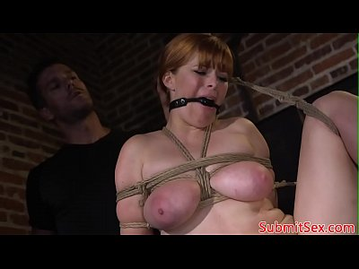 BDSM sub anal hooked while cocksucking dom