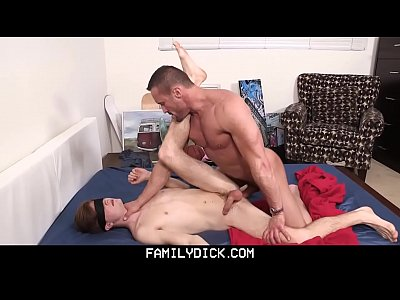 FamilyDick - Muscle Daddy Plays With Blindfolded Twink