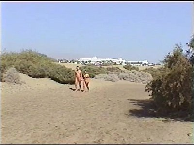 amatorial nice couple nude gran canarias dune