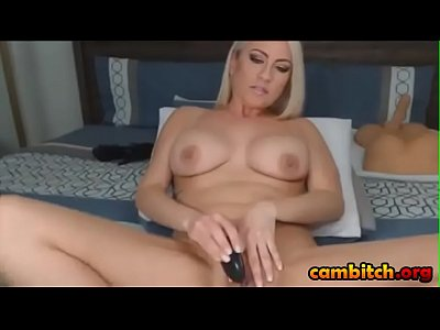 Fair-haired Mommy JhosyMilf40 With Huge Boobies Plays With Toy On Cam