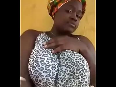 Big Boobs Girl Pressibg Her Big Boobs