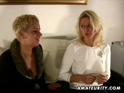 2 busty amateur Milf share one cock with cumshot