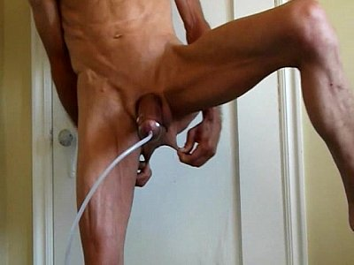 Cock Pumping and Penis Plug Fucking and Cumming