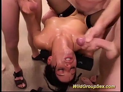 her first extreme gangbang orgy
