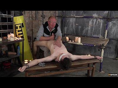 Sebastian Kane punishes subtwink Eli Manuel with hot wax