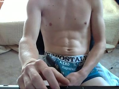 hot guy moaning and stroking