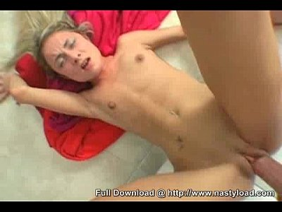 Skinny Young Blonde Girl Gets Fucked And Cum Load Over Her Body