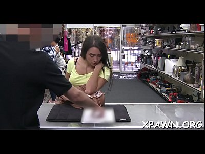 Cutie gets an suggest to have some sex in shop and that babe takes it