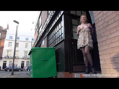 Blonde amateur exhibitionist Amber West upskirt footage and public flashing