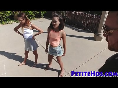Little teens giving head and fucking