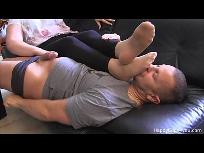 Carolina foot sniffing, foot smelling jerkoff handjob cumshot video promo