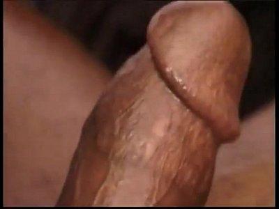 Lewd big dick tan latinos enjoying gay hardcore sex on couch