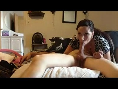 Brunette wife gives nice headd takes all in her mouth