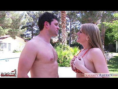Busty gf Eve Laurence gets facialized outdoors