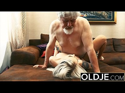 Tattooed hooker fucked by old man she swallows ...